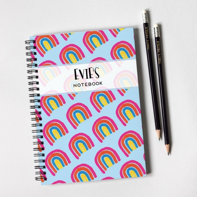 Rainbow Notebook & Pencil Gift Set