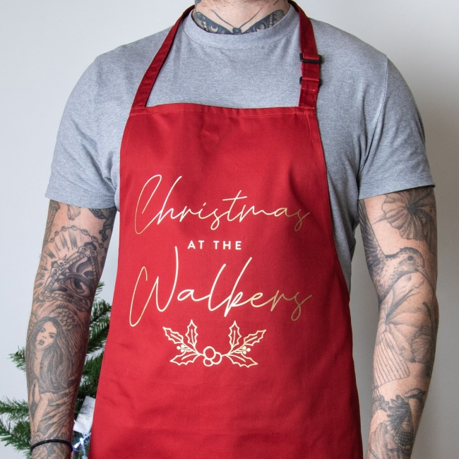 "Christmas at the ""FAMILY"" Apron"