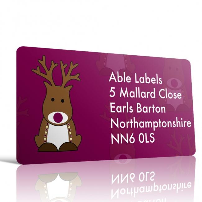 Christmas A4 Sheet Labels - Reindeer 1
