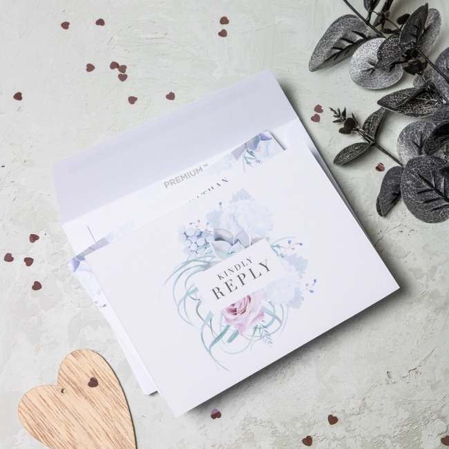 Pastel Floral Personalised Reply Cards