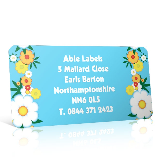 Pre Designed Flowers Address Label on A4 Sheets
