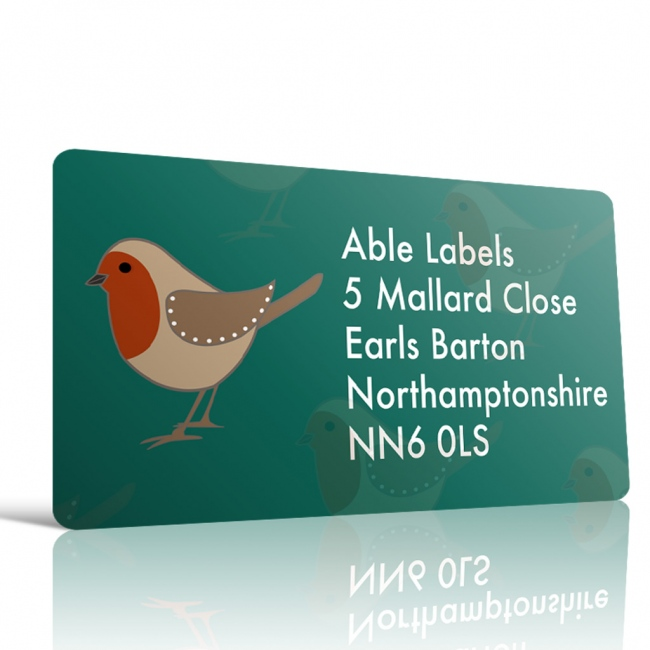 Christmas A4 Sheet Labels - Robin