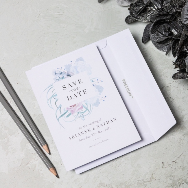 Pastel Floral Personalised Save the Date Cards