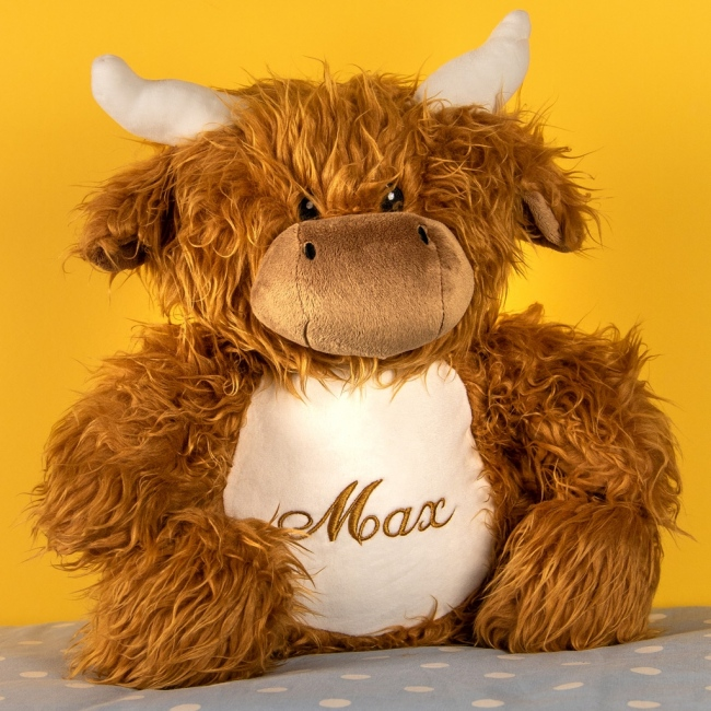 Personalised Soft Toy Highland Cow