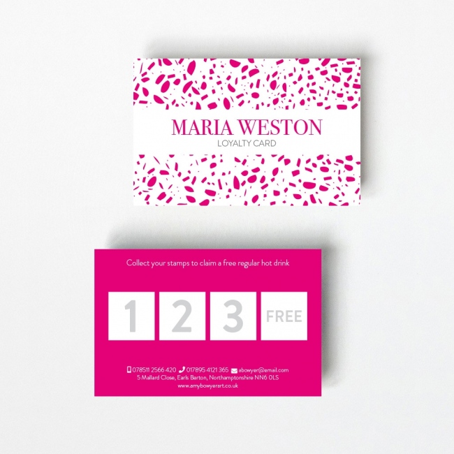 Speckled Loyalty Card - 4 Boxes
