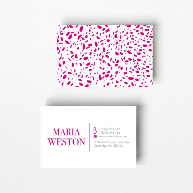 Speckled Design Business Card