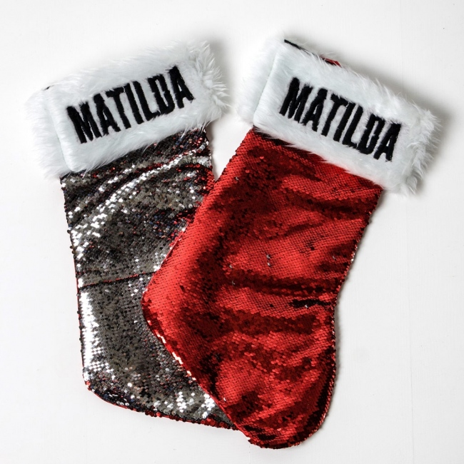 Personalised Christmas Stocking - Sequin