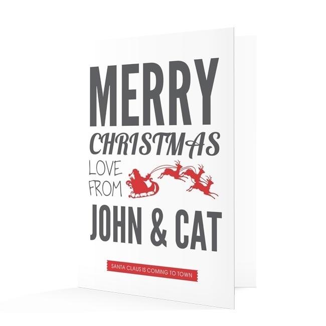 Premium Christmas Cards - Sleigh Design