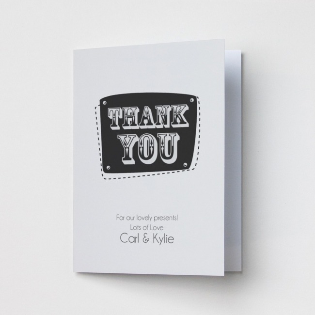 Grey - Thank You Card
