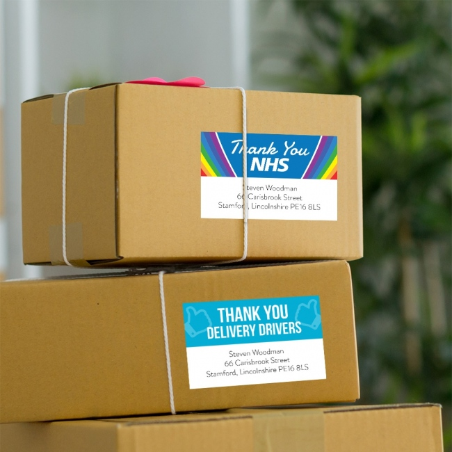 Thank You Address Labels - 85x55mm