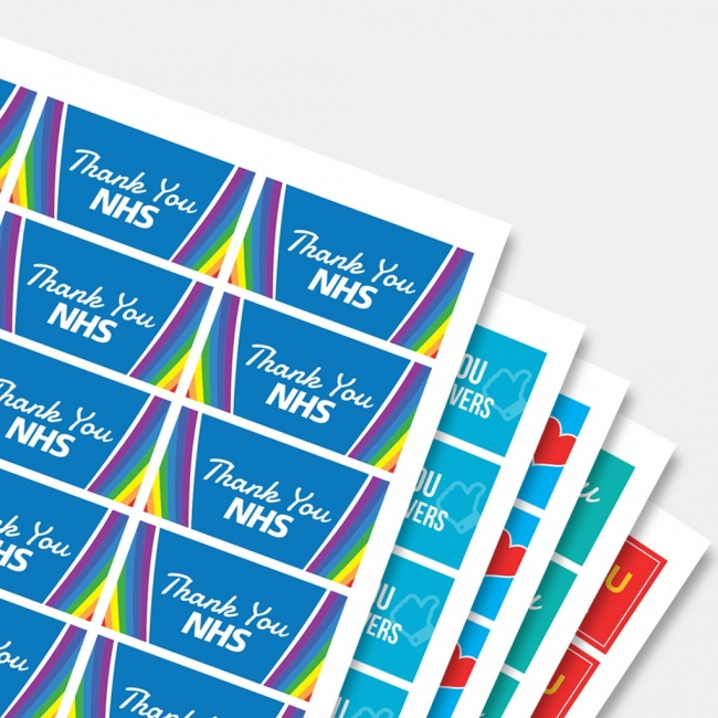 Thank You Label Pack - 32x63mm