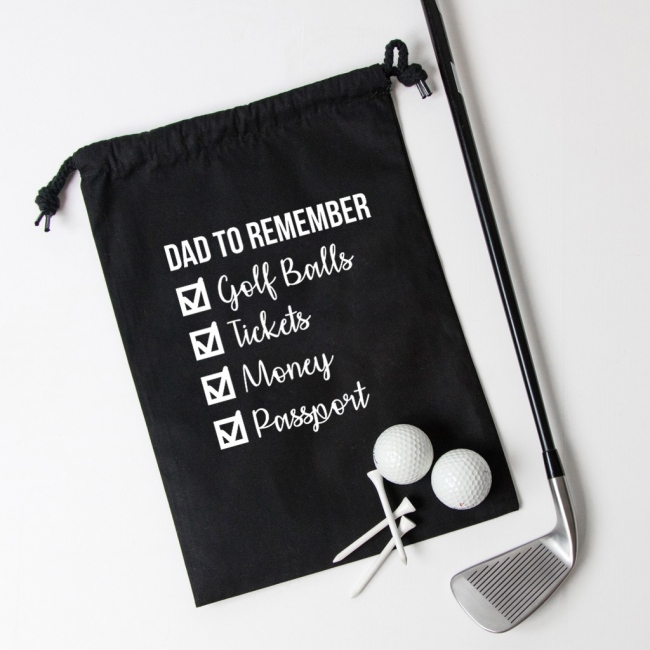 Personalised Checklist Drawstring Bag
