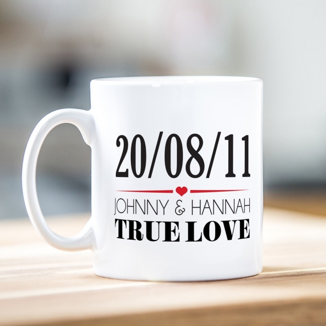 True Love with Date Mug