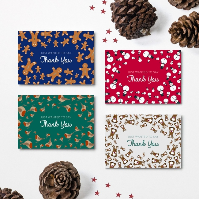 Christmas Thank You Cards - Design 3