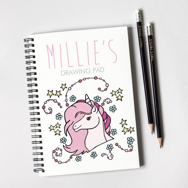 Unicorn Notebook & Pencil Gift Set