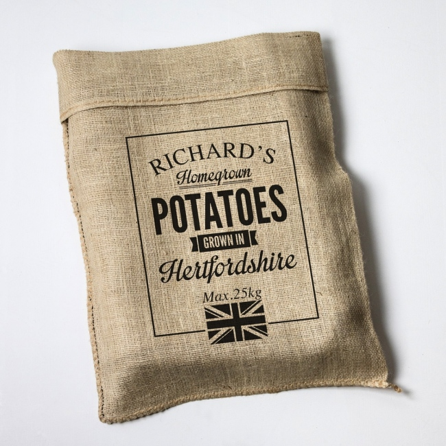 Personalised Union Jack Hessian Sack