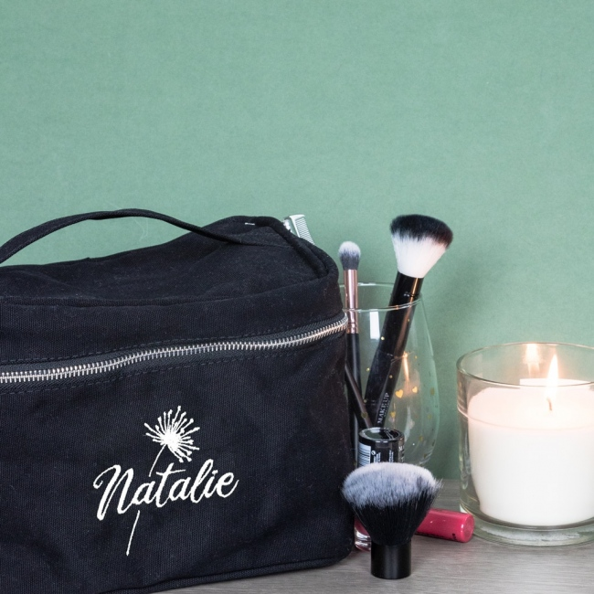 Personalised Embroidered Vanity Bag
