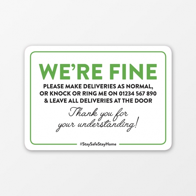 We're Fine Window Sticker