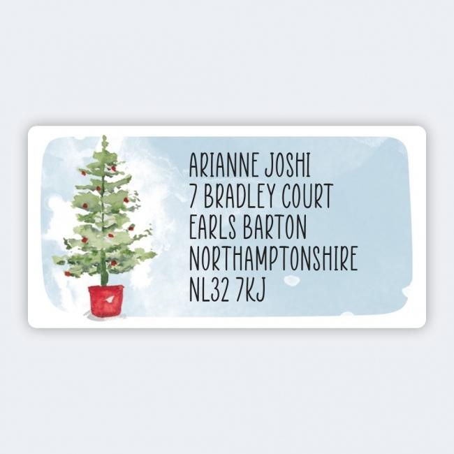 Christmas A4 Sheet Labels - 32x63mm - Tree