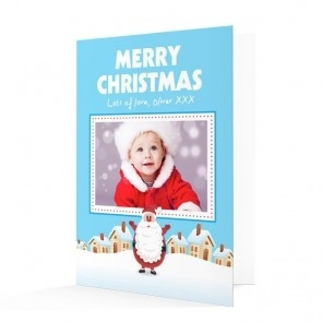 Premium Photo Christmas Cards - Merry Christmas Santa