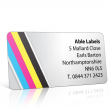Pre Designed Colour Stripes Address Label on A4 Sheets