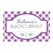 Gingham Purple - Jam Jar Labels