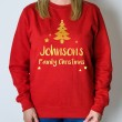 Personalised Christmas Jumper - Tree (Red)
