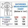 Bathrobe Sizing