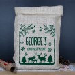 Personalised Christmas Hessian Sack - Winter Wonderland