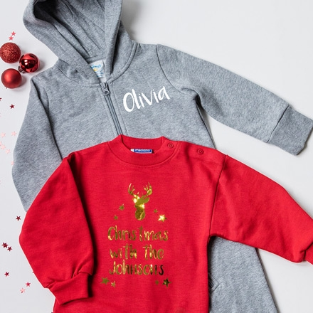 Personalised Christmas Onesies and Jumpers