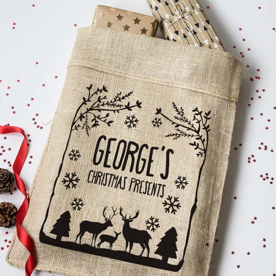 Personalised Christmas Present Sacks