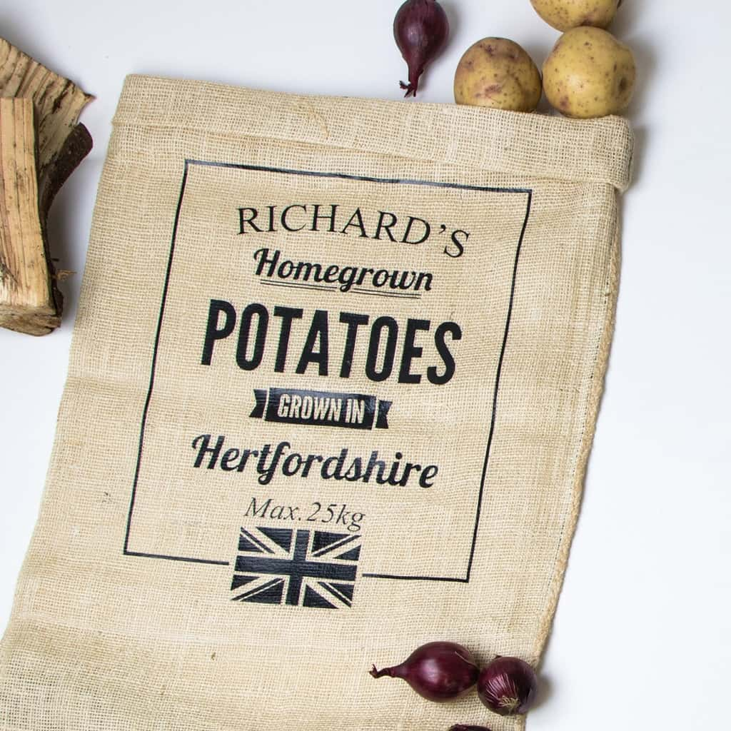 Personalised Vegetable Sacks