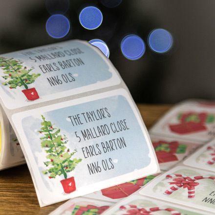 Personalised Christmas Roll Labels